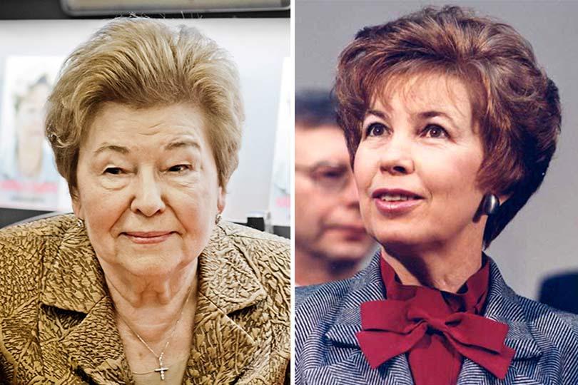Наина Ельцина и Раиса Горбачева
