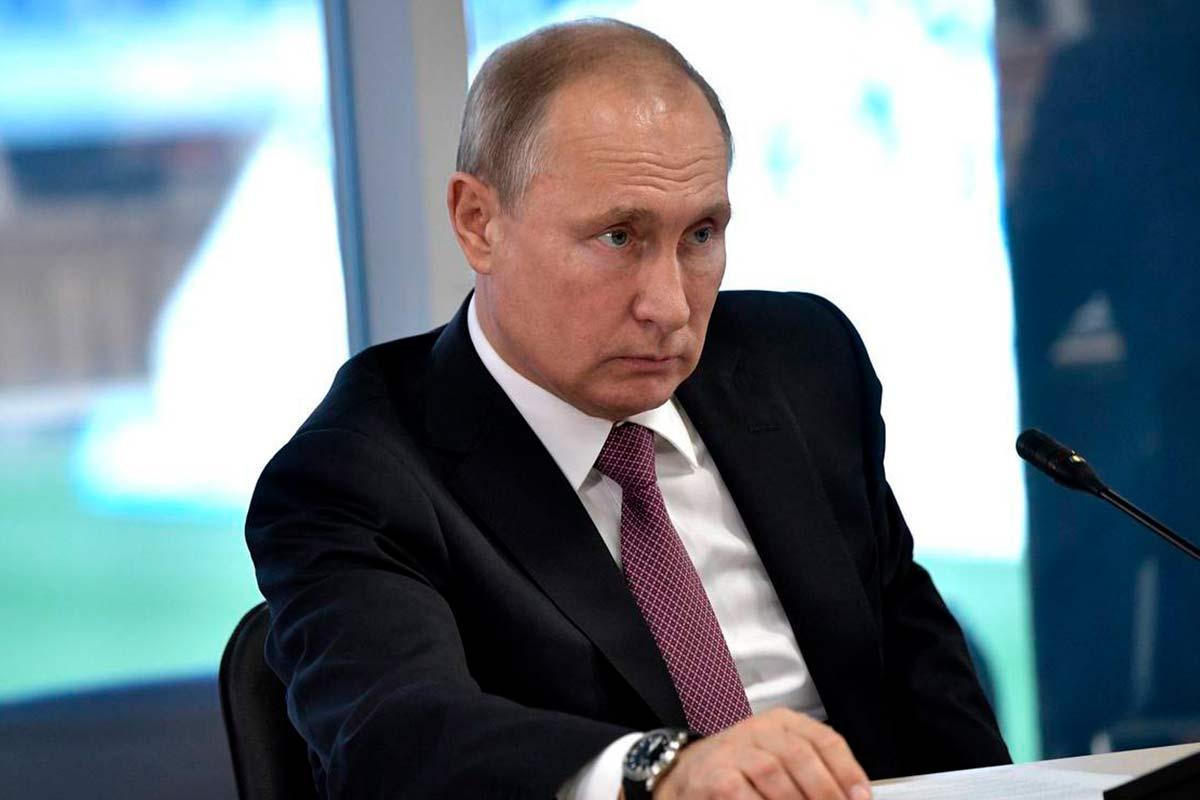 Грустный Путин