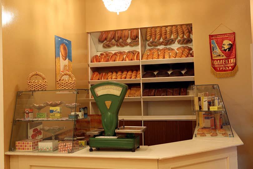 Хлебный магазин времен СССР